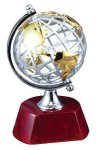 World Globe on Rosewood Base Achievement Awards