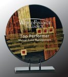 Round Art Glass Award Artistic Awards