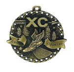 Cross Country Burst Thru Medal Cross Country Trophy Awards