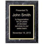 Improved Black Marble Plaque Economy Plaque Awards