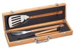 BBQ Gift Set Bamboo Case Kitchen Gifts