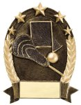 5 Star Oval Lacrosse Generic Lacrosse Trophy Awards