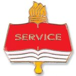 Service Lapel Pin Scholastic Trophy Awards