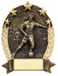 5 Star Oval  Soccer Soccer Trophy Awards