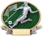 3D Oval Soccer M Soccer Trophy Awards